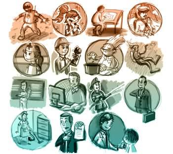 картинки разные профессии
