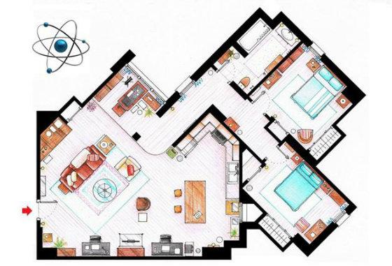 Схема квартир сериалов