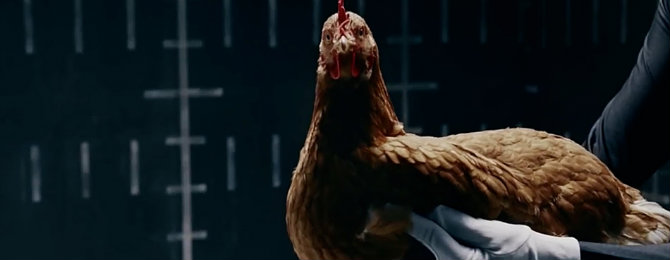 чем связана курица в рекламе мерседес