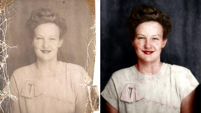 восстановить старые фотографии
