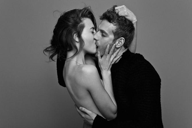 черно белое поцелуй фото