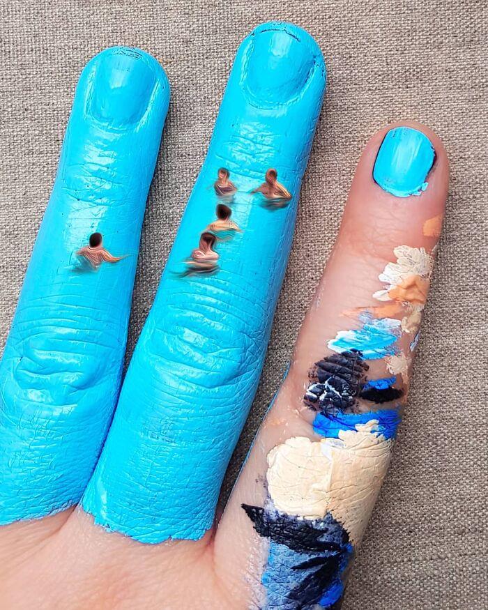 картины на пальцах