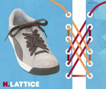 3e10a0c66 Как оригинально зашнуровать обувь, способы шнуровки