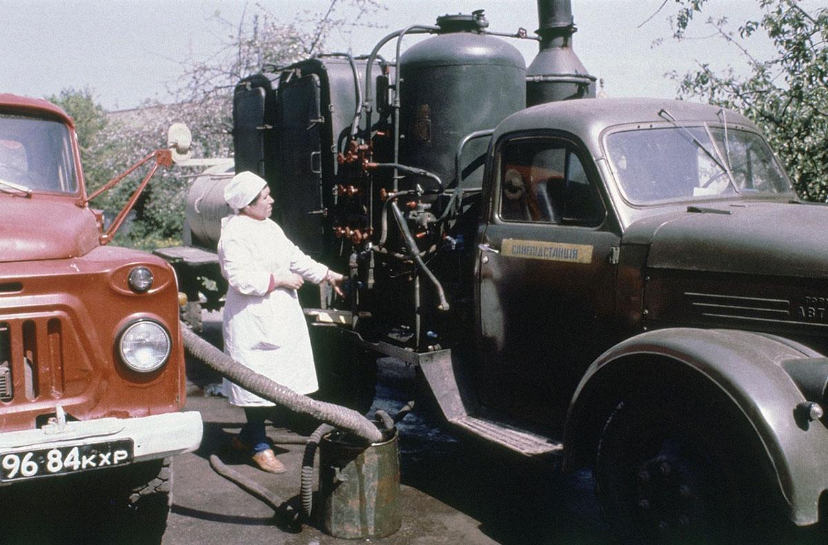 прочь поливальные машины чернобыль фото время она