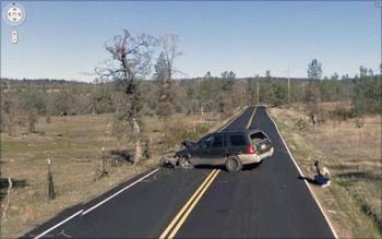 Реальные аварии на снимках google street view