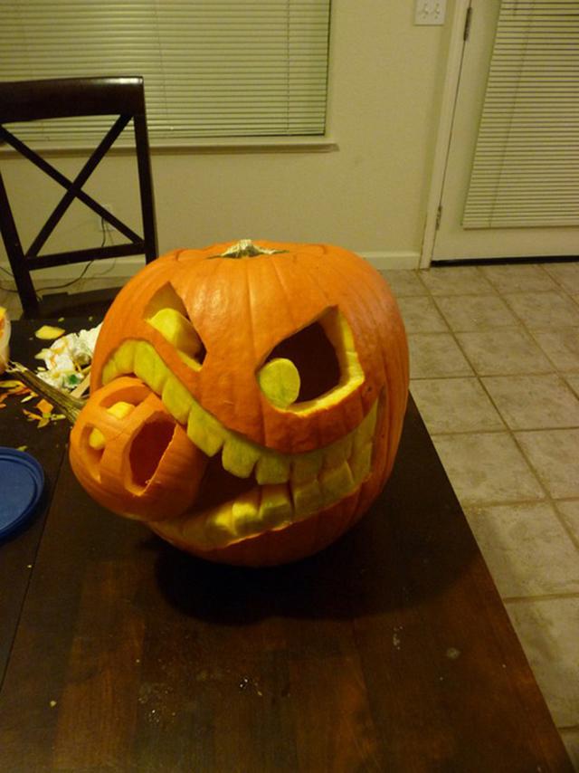 Сделать своими руками тыкву на хэллоуин