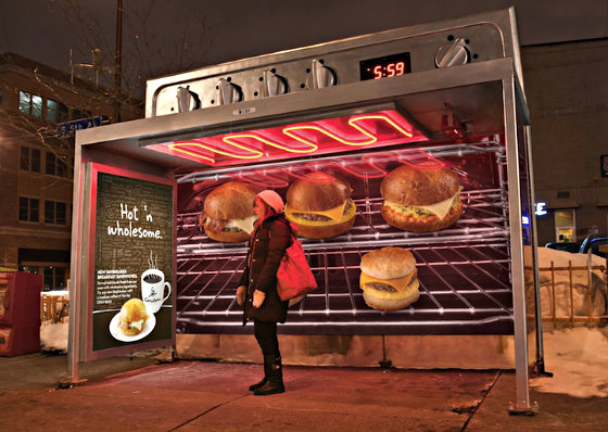 Образцовые примеры рекламы на автобусных остановках [55 фото]