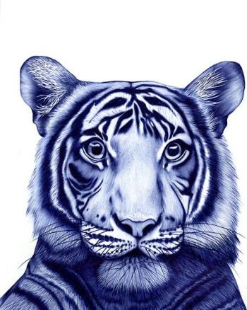 Картинки животных, сделанные...ручкой