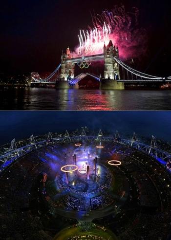 Видео и фотографии с церемонии открытия Олимпиады в Лондоне