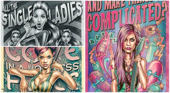 Музикальние діви в іллюстраціях