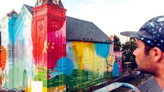 Американський художник перетворив церкву в арт-інсталяцію