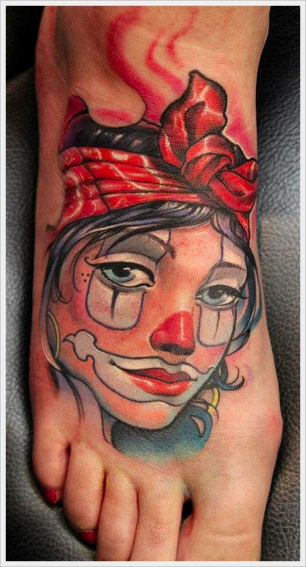 Татуировки на ступнях ног