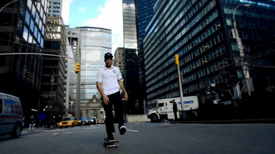 Скейтеры прокатились по улицам Нью-Йорка