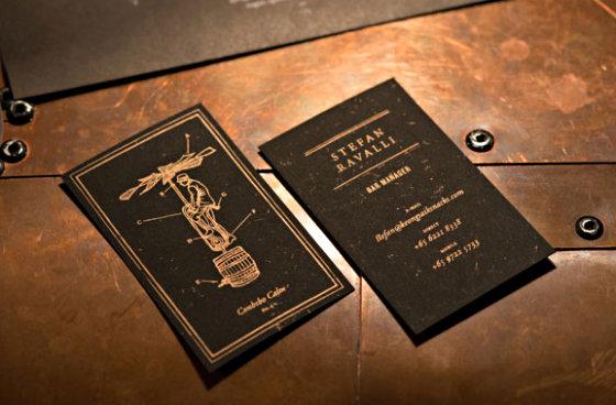 25 симпатичных черных визиток