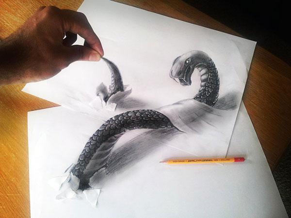 3D-рисунки карандашом Рамона Бруина, 10 фото