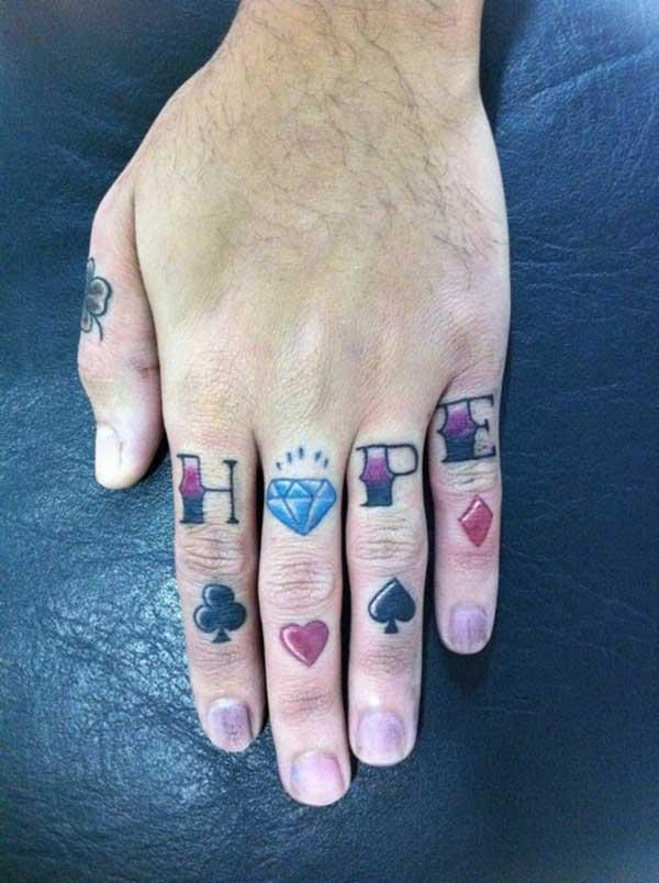 Татуировки на пальцах рук 25 фото
