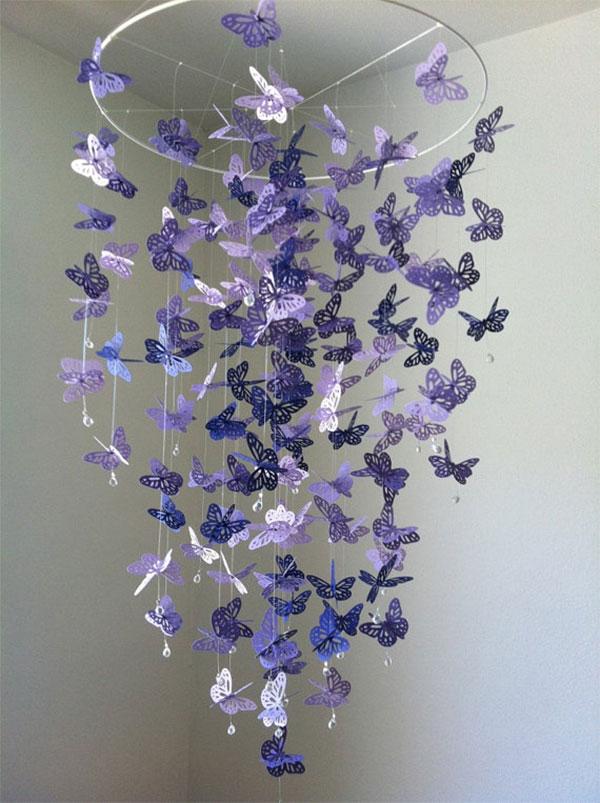 Люстра с бабочками своими руками фото