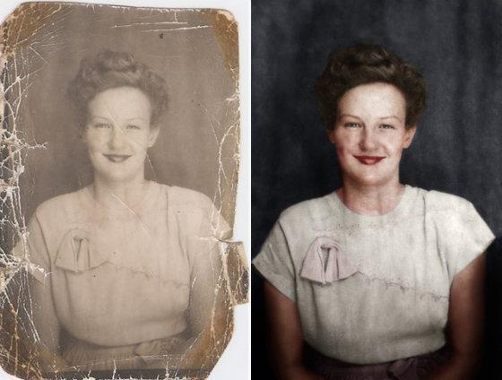 как восстановить старое фото: