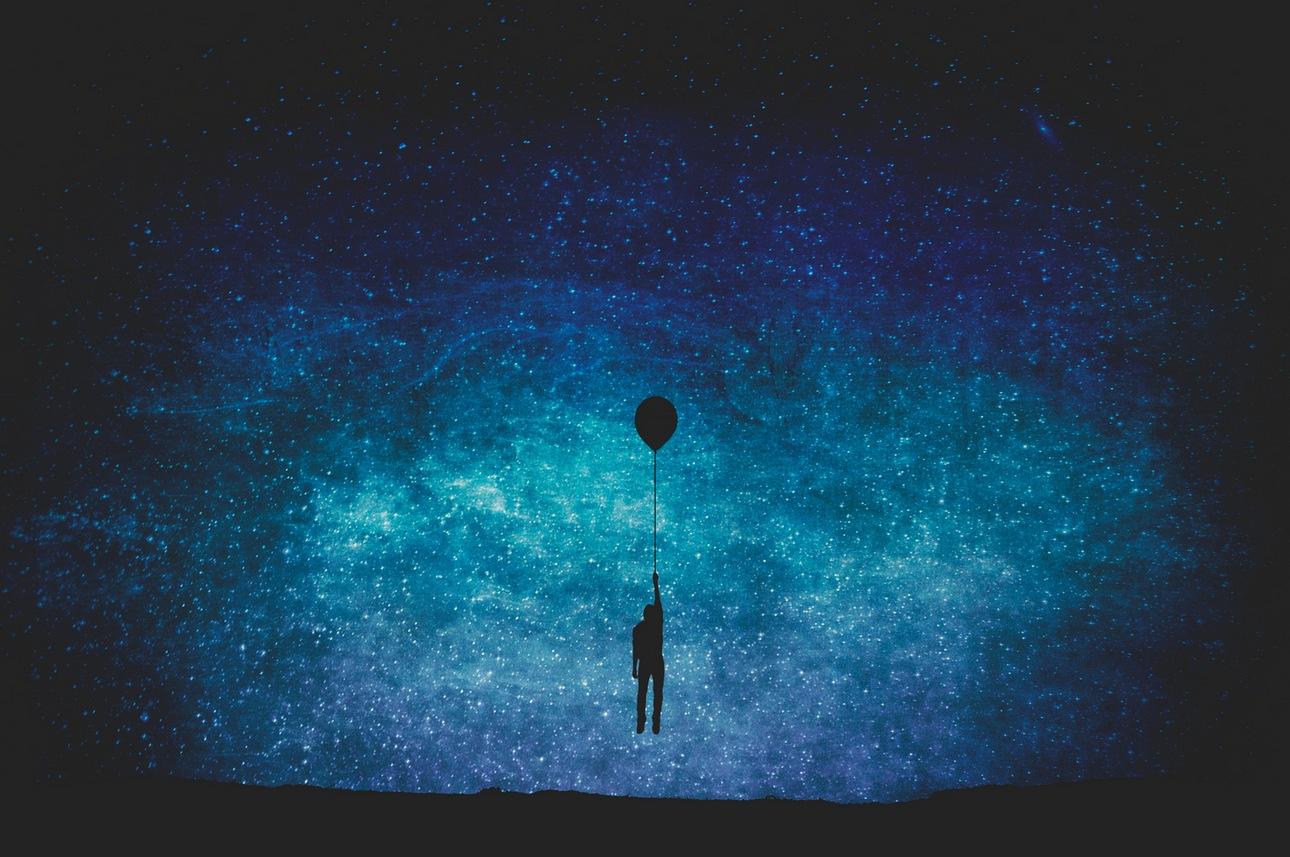 Небо и человек рисунок