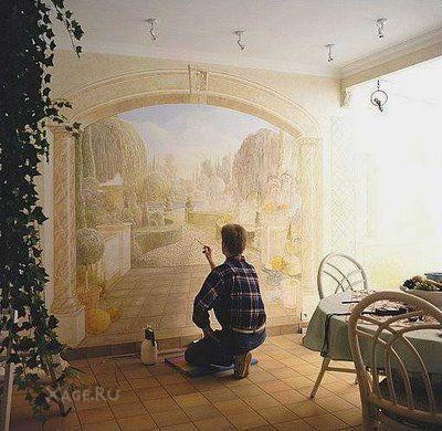Интерьер стены с фотографиями