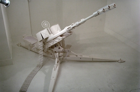 Как сделать пулемет из бумаги схема
