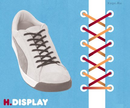 Как зашнуровать обувь