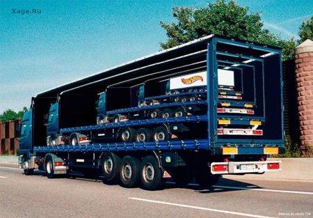 Креативная реклама на грузовиках