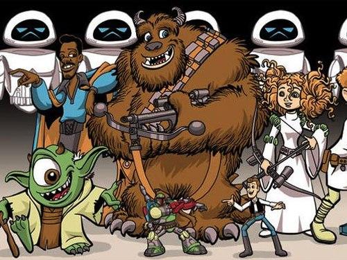 Персонажи pixar во вселенной звездных