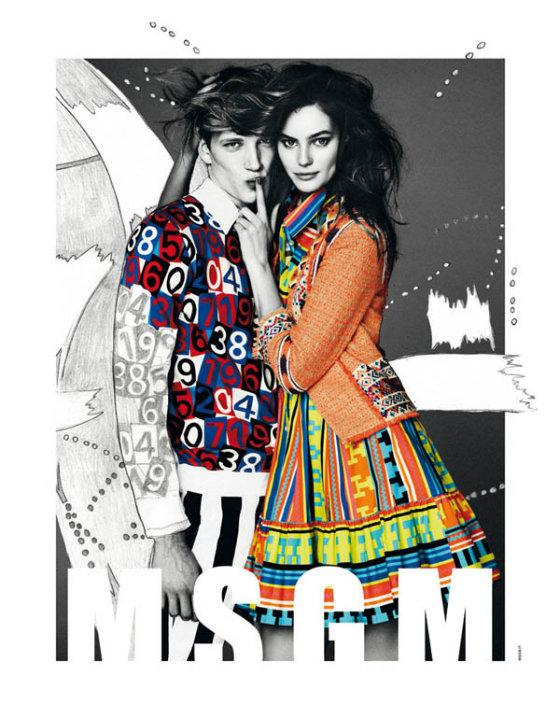 Кампанії Emilio Pucci і MSGM на весну /літо 2013